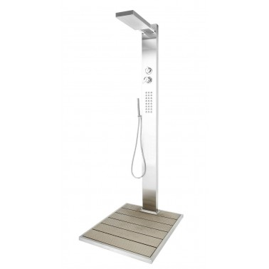 Moderní zahradní sprcha na teplou a studenou vodu Elba od Ideal Eichenwald