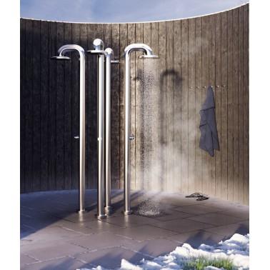 JEE-O fatline push nerez venkovní sprcha pro veřejné provozy, plavecké bazény a wellness centra