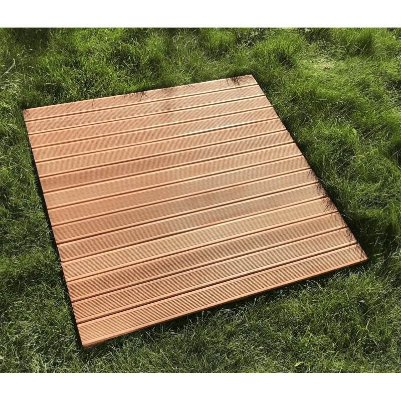Dřevěný rošt Bangkirai XXL pro zahradní sprchy