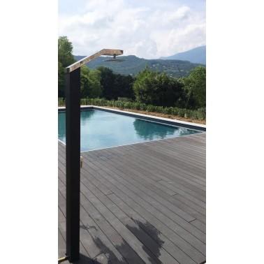 Solaris SO2000 solární sprcha k bazénu v černé barvě