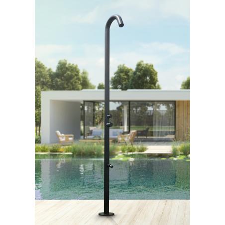 Nerezová sprcha v černé barvě Ideal Eichenwald s nožním kohoutkem s perlátorem