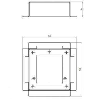 Montážní krabice pro zapuštění do podlahy
